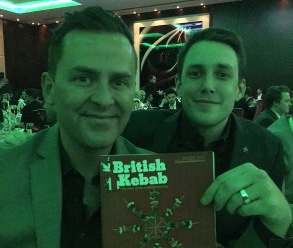 Scott and Chris present 'Kebab' award