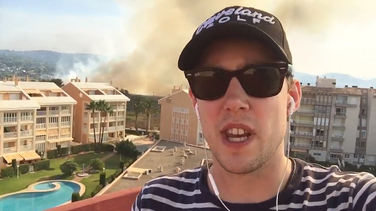 Holiday From Hell? Chris caught up in Costa Blanca fires