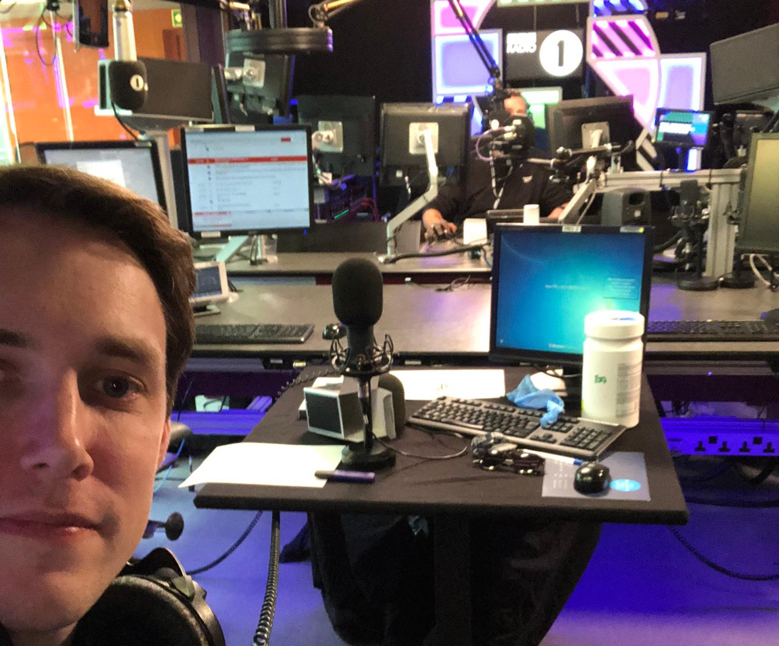 Co-presenters return to Radio 1 studios